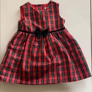 Beautiful GEORGE Holiday Dress W/Velvet Bow 18mo